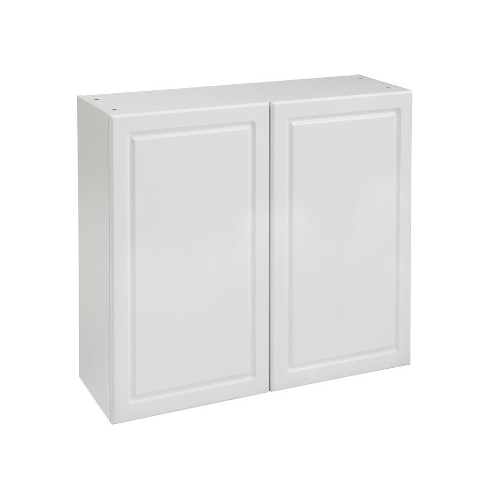 Heartland Cabinetry Heartland Ready to Assemble 36x29.8x12.5 in. Wall Cabinet with Double Doors in White
