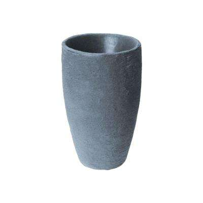 Athena 24.5 in. x 15 in. Charcoal-Stone Self-Watering Plastic Planter