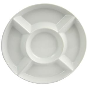 GIBSON elite Gracious Dining 13 inch White Divided Serving Tray by GIBSON elite
