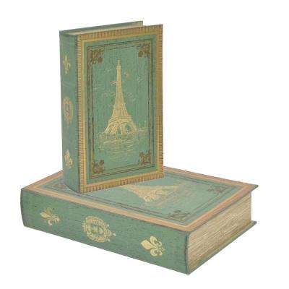 Wood Book Box (Set of 2)