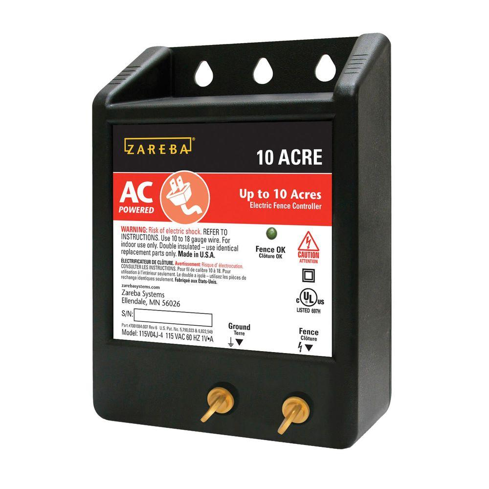 Zareba 10 Acre Ac Solid State Charger 10acre The Home Depot