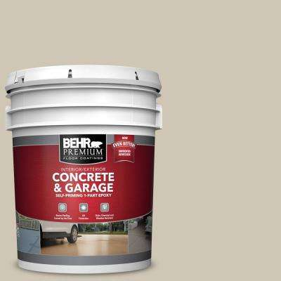 5 gal. #N310-3 Sandstorm Self-Priming 1-Part Epoxy Satin Interior/Exterior Concrete and Garage Floor Paint