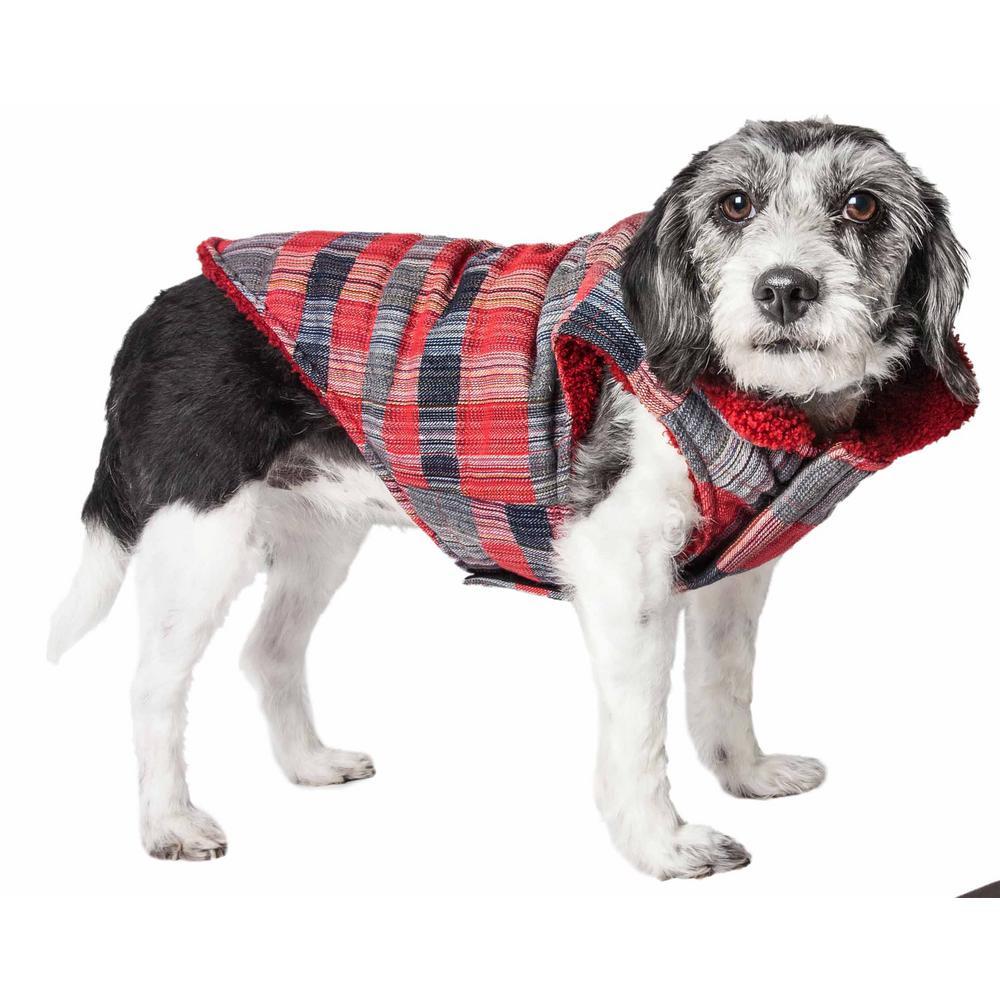 Medium Scotty Tartan Classical Plaided Insulated Dog Coat Jacket