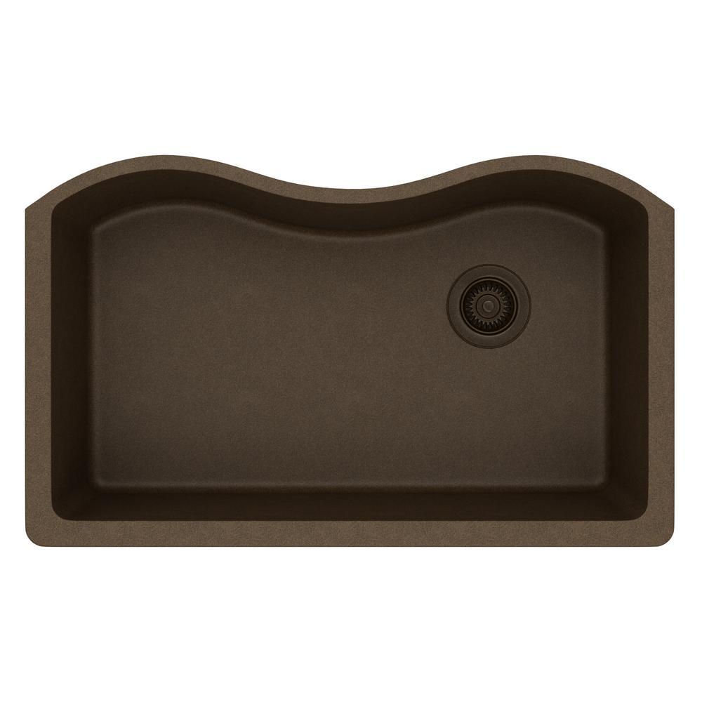 Undermount Kitchen Single Sink elkay quartz classic undermount composite 33 in. single basin