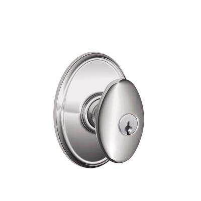 Wakefield Collection Bright Chrome Siena Keyed Entry Knob