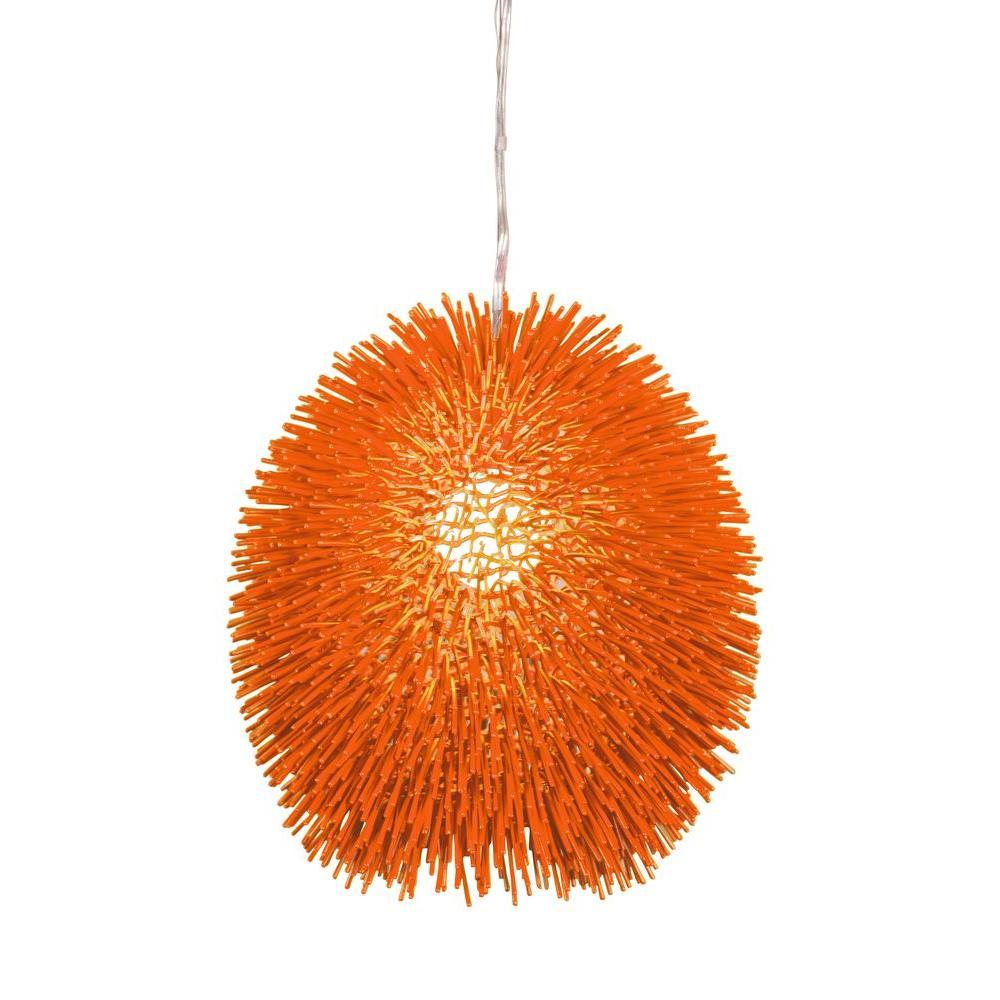Urchin 1-Light Electric Pumpkin Pendant