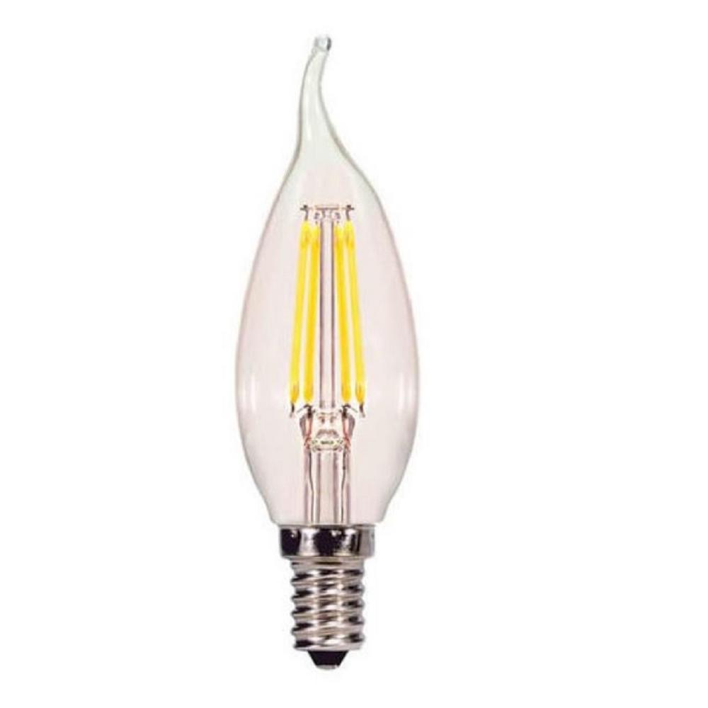 40-Watt Equivalent 4-Watt CA10 Dimmable LED Chandelier Antique Vintage Style Clear Light Bulb 85065
