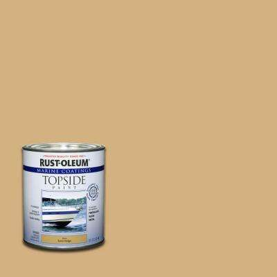 1 qt. Sand Beige Gloss Topside Paint (Case of 4)