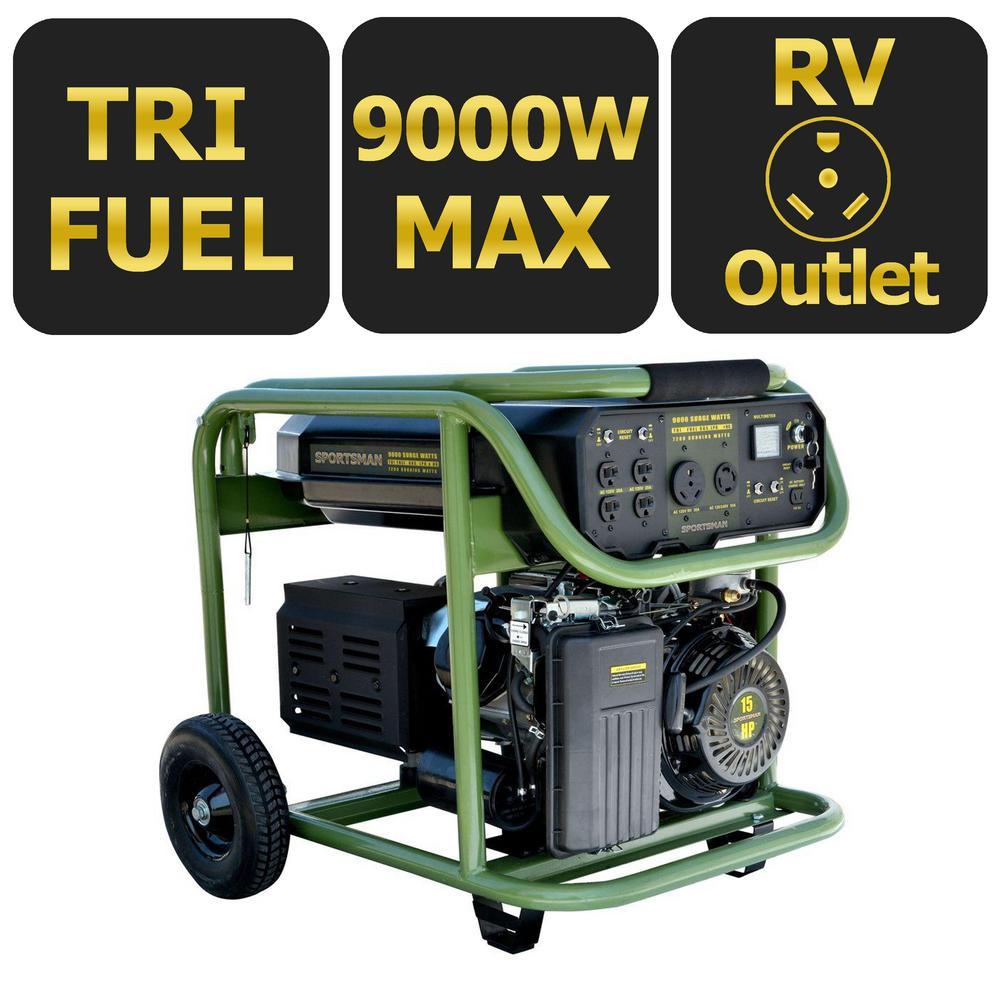 Sportsman 9,000-Watt Tri-Fuel Powered Electric Start Portable Generator by Sportsman