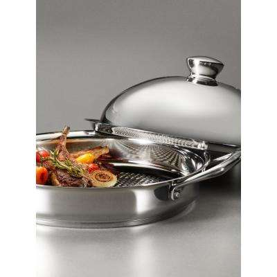 Limited Editions Rotonda 11 in. Stainless Steel Braiser