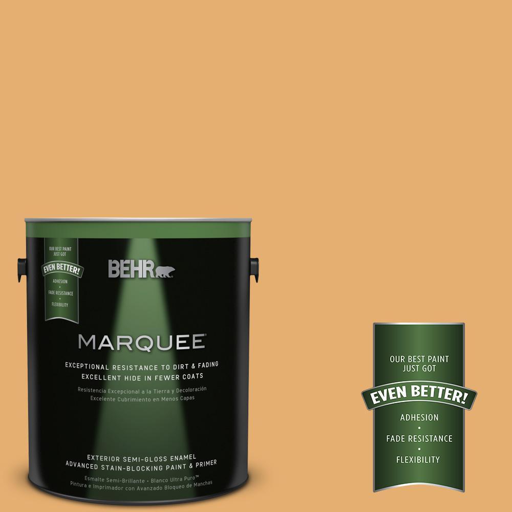 BEHR MARQUEE 1-gal. #M260-5 Mac N Cheese Semi-Gloss Enamel Exterior Paint