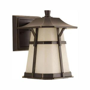 Derby Collection 1-Light 8.4 in. Outdoor Antique Bronze LED Wall Lantern Sconce