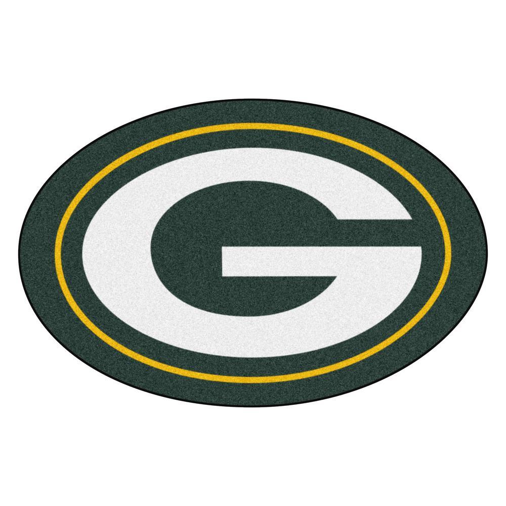 Fanmats Nfl Green Bay Packers Mascot Mat 36 In X 23 6