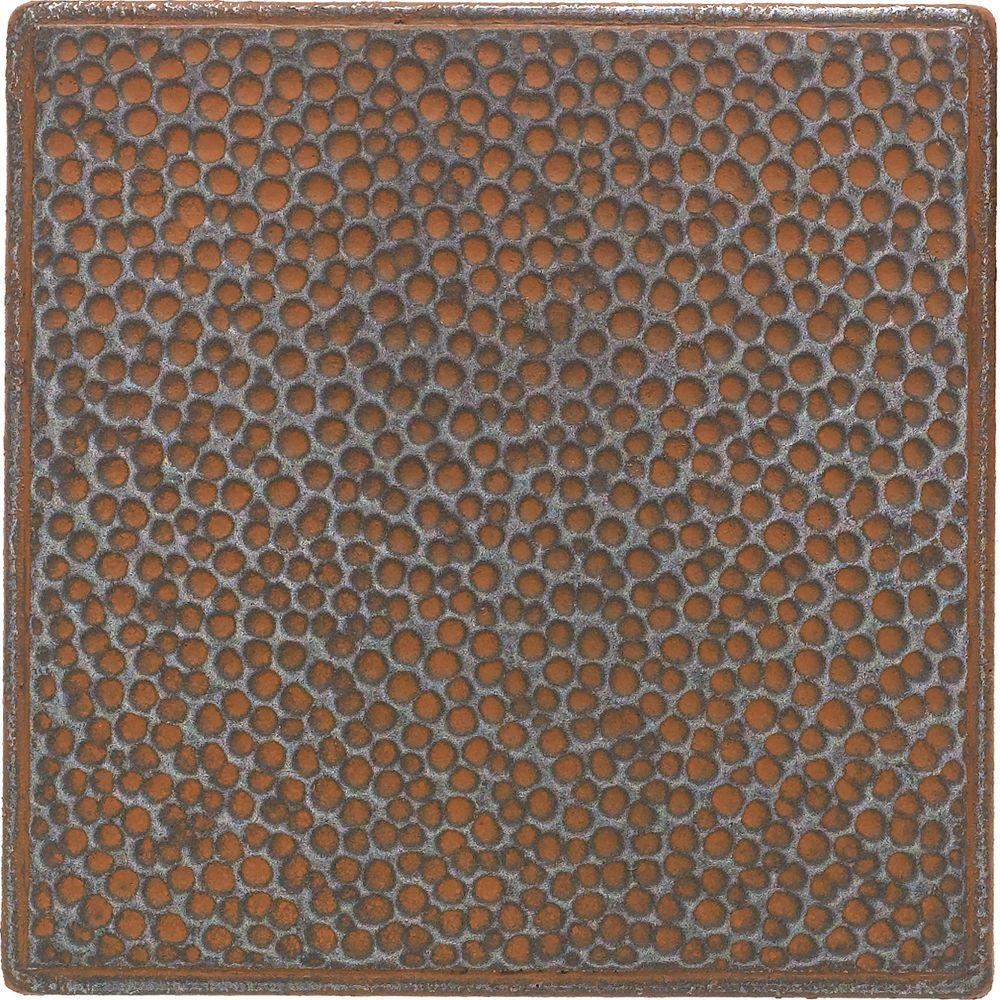 Castle Metals 4-1/4 in. x 4-1/4 in. Wrought Iron Metal Hammered