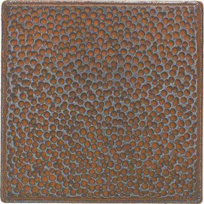Castle Metals 4-1/4 in. x 4-1/4 in. Wrought Iron Metal Hammered Insert Wall Tile