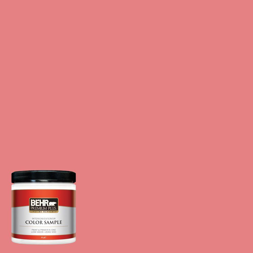 BEHR Premium Plus 8 oz. #P170-4 Sugar Poppy Flat Interior/Exterior ...