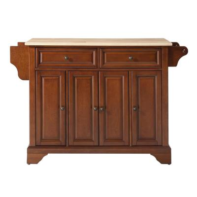 Lafayette Cherry Kitchen Island with Wood Top