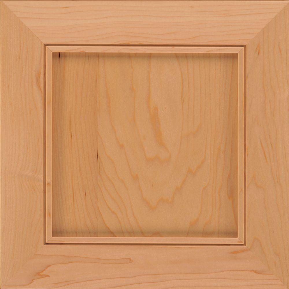 KraftMaid 15x15 in. Cabinet Door Sample in Carter Maple in Honey Spice