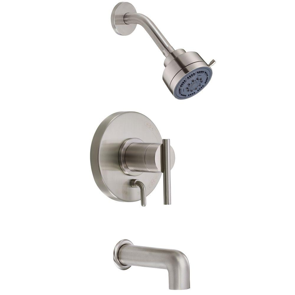 Danze Parma 1-Handle Pressure Balance Tub and Shower with Valve in Brushed Nickel-DISCONTINUED
