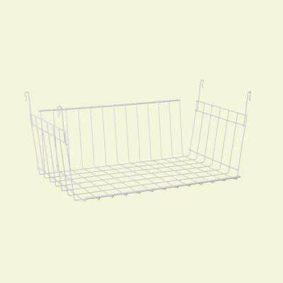 9-3/4 in. D x 7-7/8 in. H x 17 in. L Hanging Basket for Wire Shelving