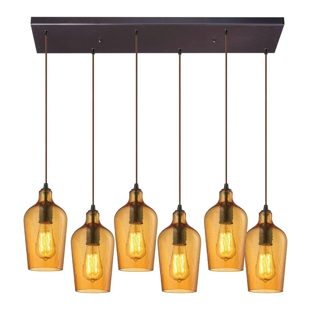 Titan Lighting Hamrade Collection 6 Light Oil Rubbed