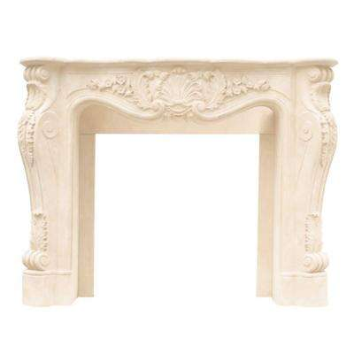 Designer Series Louis XIII 47 in. x 53 in. Cast Stone Mantel