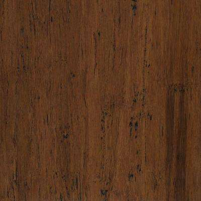 Take Home Sample - Hand Scraped Strand Woven Almond Engineered Click Bamboo Flooring - 5 in. x 7 in.