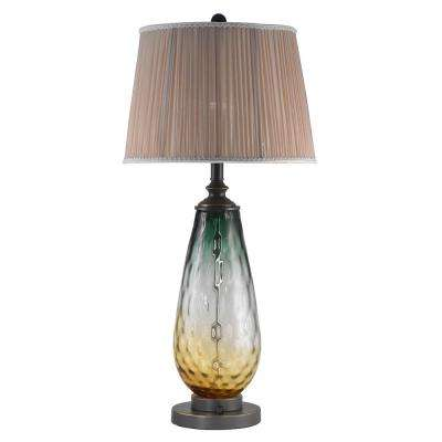 Boylen 31.5 in. Oil Rubbed Bronze Table Lamp with Fabric Shade