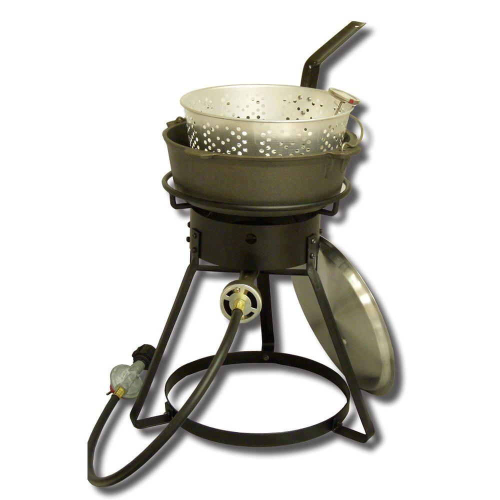 54,000 BTU Bolt Together Propane Gas Outdoor Cooker with 6 qt.