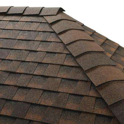 Timbertex Hickory Double-Layer Hip and Ridge Cap Roofing Shingles (20 lin. ft. Per Bundle) (30-pieces)