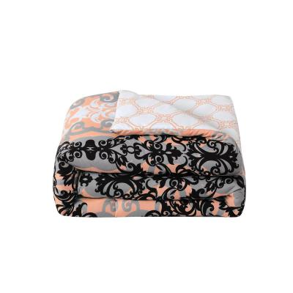 Downton 7-Piece Coral King Comforter Set