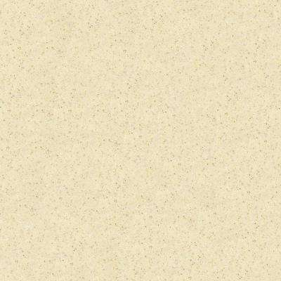 4 in. x 4 in. Solid Surface Countertop Sample in Almond Allegro
