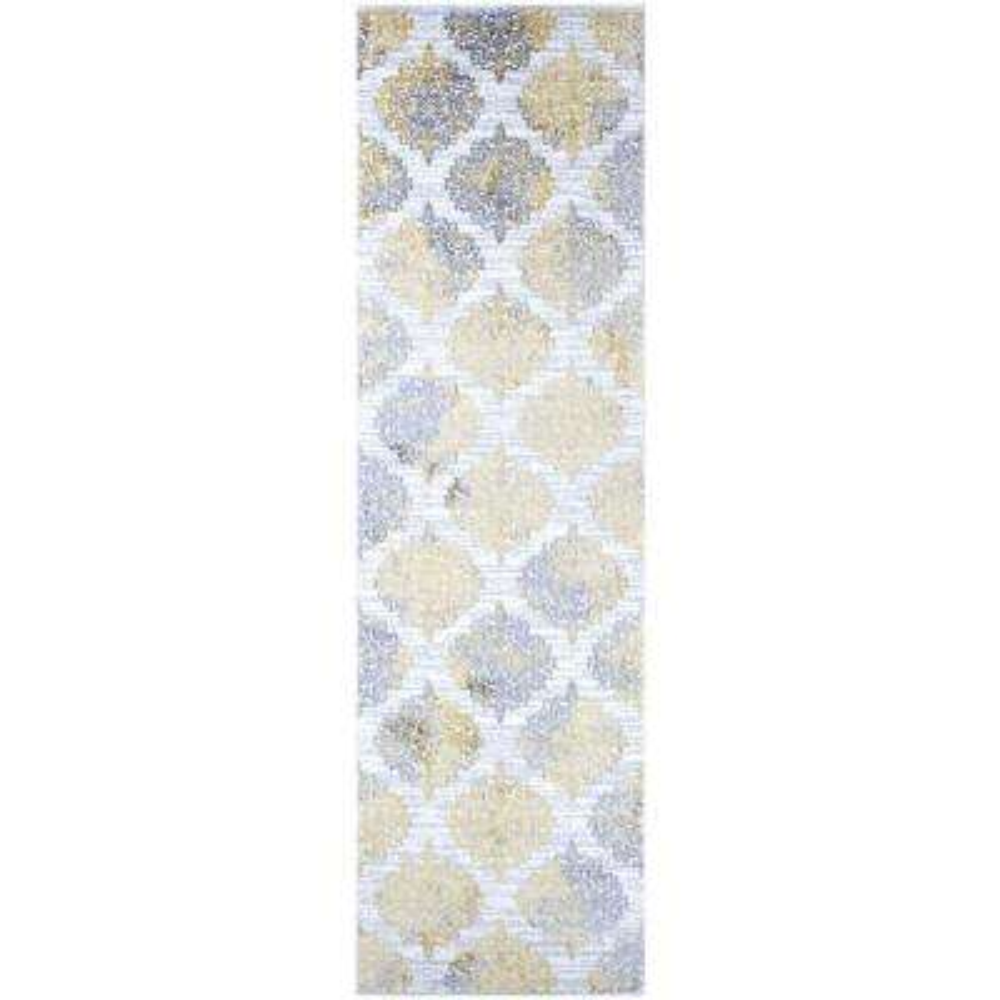 Calinda Montebello Gold-Silver-Ivory 2 ft. 3 in. x 7 ft. 6 in. Runner Rug