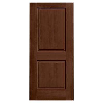 36 in. x 80 in. Cambridge Milk Chocolate Stain Solid Core Molded Composite MDF Interior Door Slab