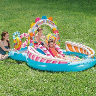 116 in. x 75 in. Rectangular 8 in. Candy Zone Play Center Pool