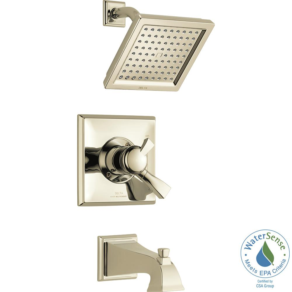 delta dryden 1 handle tub and shower faucet trim kit in polished