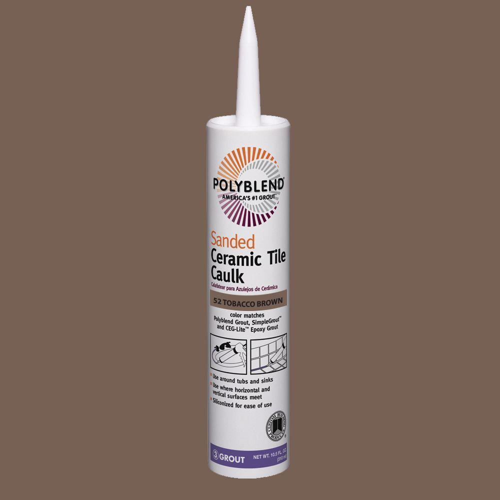 Custom Building Products Polyblend #52 Tobacco Brown 10.5 oz. Sanded Ceramic Tile Caulk