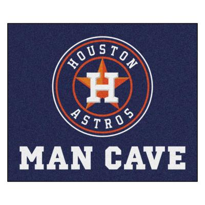 MLB - Houston Astros Man Cave Tailgater 5 ft. x 6 ft. Indoor Area Rug