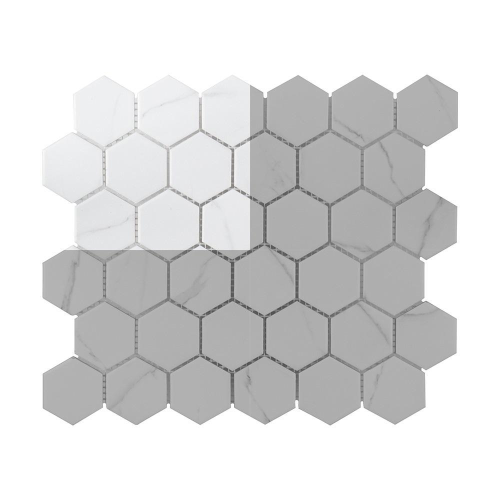 Whisper Valley 3 in. x 6 in. x 6 mm Porcelain Mosaic Tile Sample
