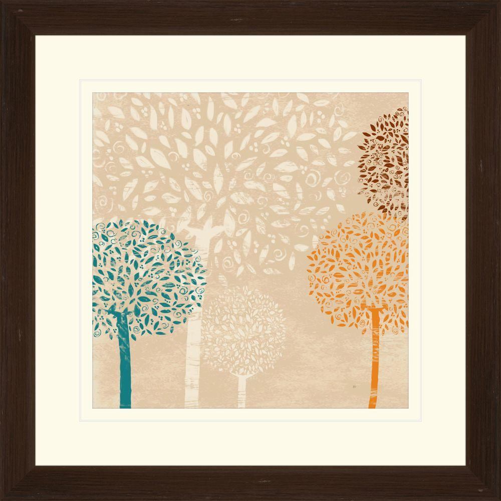 """null 17.75 in. x 17.75 in. """"Puffball Floral B"""" Framed Wall Art"""