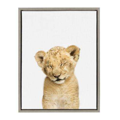 "Sylvie ""Animal Studio Sleepy Lion"" by Amy Peterson Framed Canvas Wall Art"