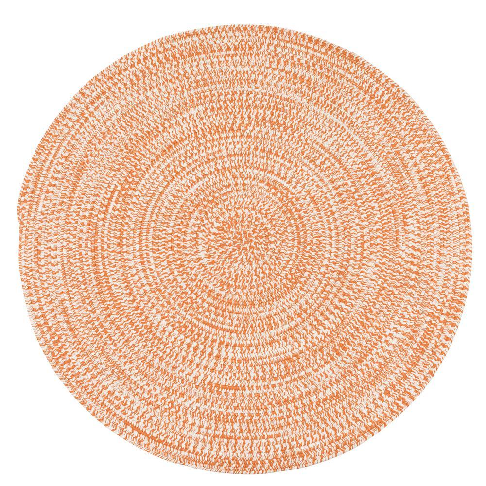 Kaari Rusted Orange 10 ft. x 10 ft. Tweed Indoor/Outdoor Round Area Rug