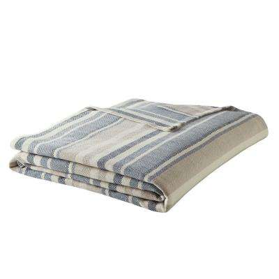 Eb Blue 100% Cotton Twin Blanket
