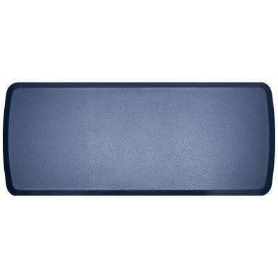 Elite Quill Atlantic Blue 20 in. x 48 in. Comfort Kitchen Mat