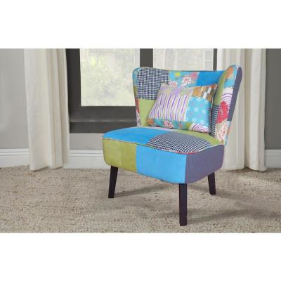 Pacific Coastal Patchwork Occasional Chair (Set of 1)