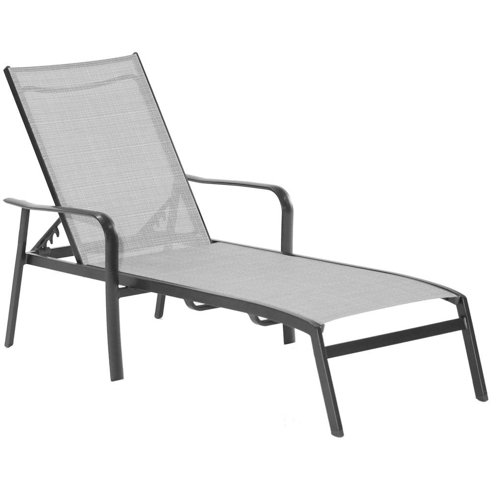 Pleasant Hanover Foxhill All Weather Commercial Rust Free Aluminum Outdoor Chaise Lounge Chair With Sunbrella Sling Fabric Inzonedesignstudio Interior Chair Design Inzonedesignstudiocom