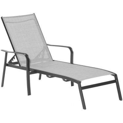 Foxhill All Weather Commercial Rust Free Aluminum Outdoor Chaise Lounge Chair With Sunbrella Sling