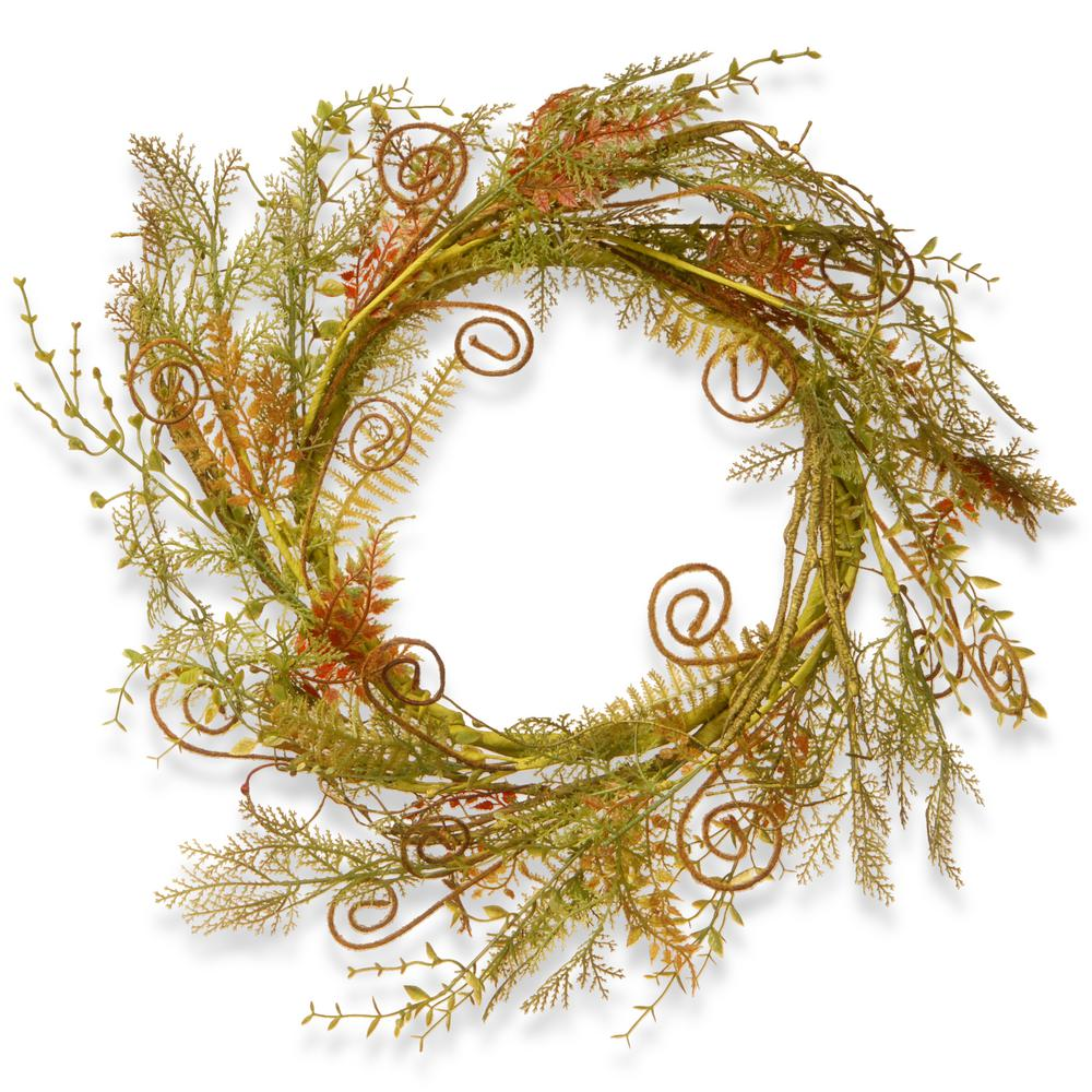 22 in. Greenery Fern Wreath