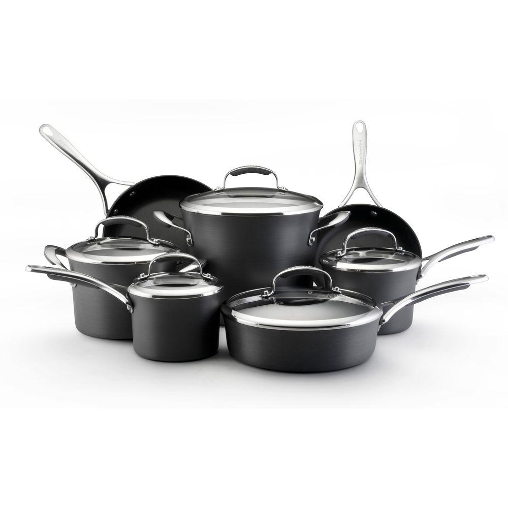 KitchenAid Gourmet 12-Piece Hard Anodized Cookware Set-DISCONTINUED