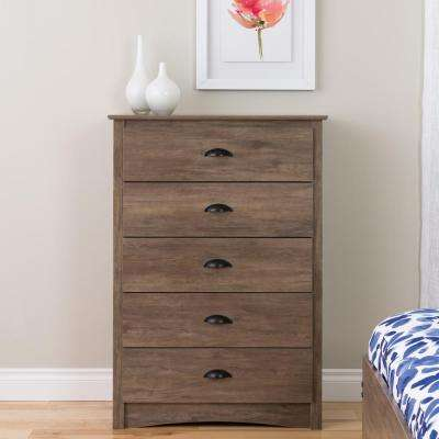 Salt Spring 5-Drawer Chest in Drifted Gray